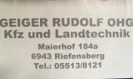 Geiger Rudolf OHG